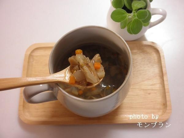 ごぼうも入ったごろごろ野菜スープの中身