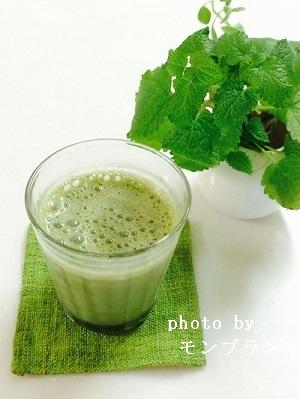 緑汁のおいしい飲み方豆乳入り