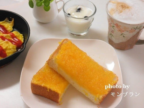 自家製マーマレードを使った朝食メニュー