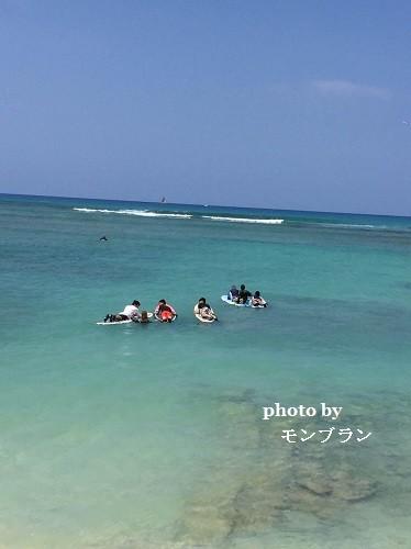 ハワイでサーフィンレッスン