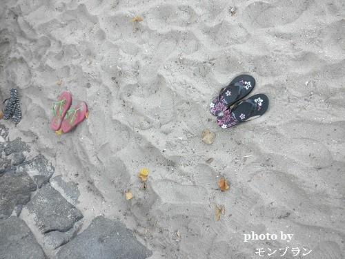ワイキキビーチとハワイで買ったビーチサンダル