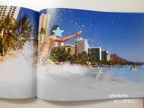 大迫力のココアルフォトブックハワイの海に飛び込む息子