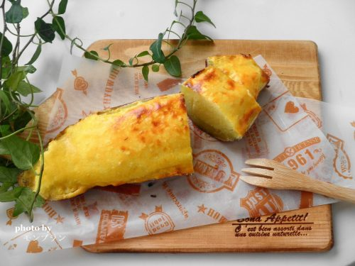 レンジで作るさつま芋丸ごとスイートポテトのレシピ