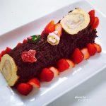 【ブッシュドノエル】短時間でできるふわふわロールケーキレシピ