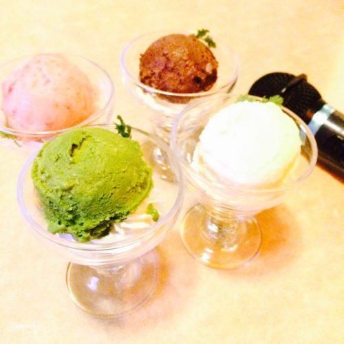カラオケボックスのアイス