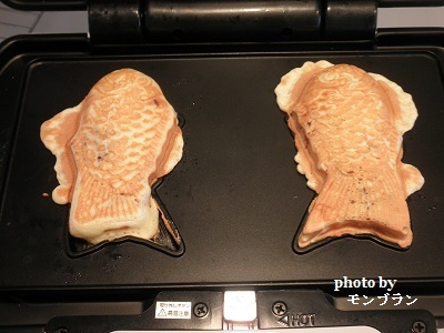 ビタントニオで作るたい焼きの焼き上がり