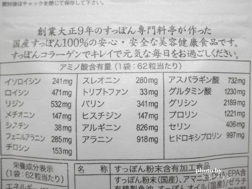 すっぽんの恵みのアミノ酸含有量