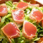 【マグロのたたきサラダ】ダイエット・老化防止におすすめなヘルシーレシピ