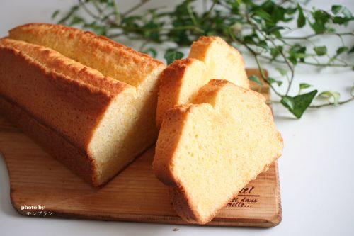 手作りパウンドケーキの断面