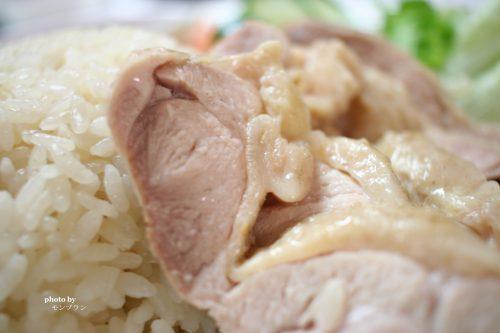 シンガポール風チキンライス 海南鶏飯のできあがり