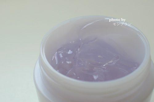 透明感のある紫色のジェルのパルクレールジェル