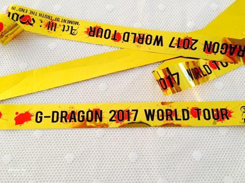 G-Dragonソロコンサートの金テープ