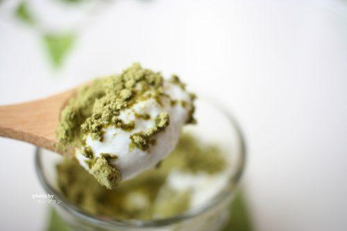 ヨーグルトにも合う緑茶葉オリゴ糖きなこ