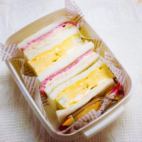 手作り厚焼き玉子のサンドイッチ