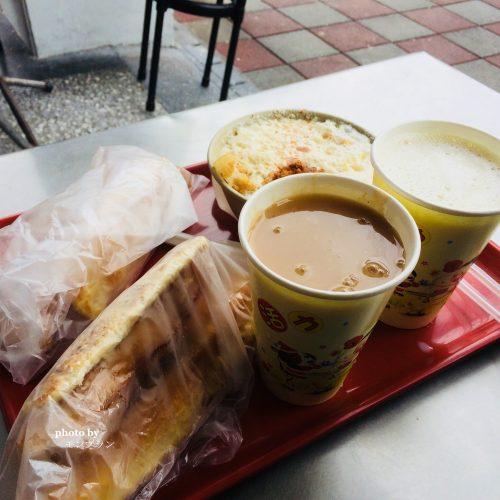 台湾の朝ごはん名物豆乳と揚げパン