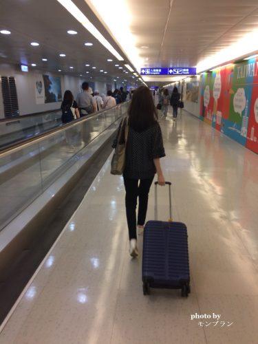 台湾空港にて