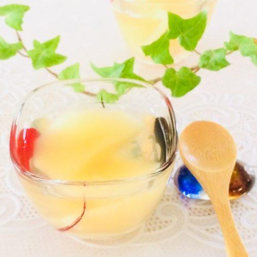 アレンジレシピ桃のコンポートゼリー