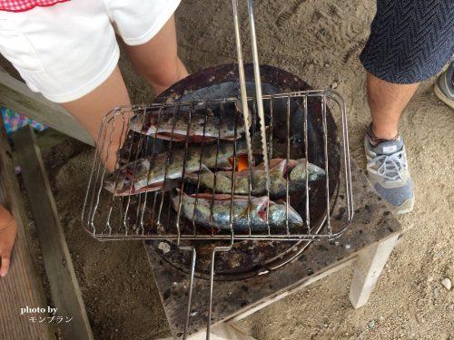 蒜山旅行記魚のつかみ取り体験