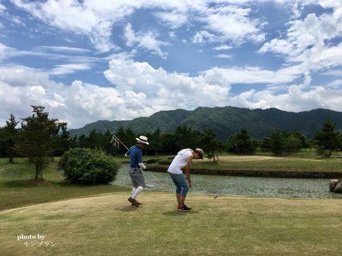 蒜山旅行記ゴルフ体験の長男