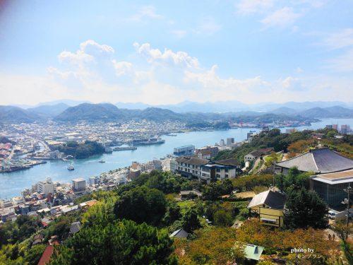 尾道千光寺公園展望台からの市街地景色