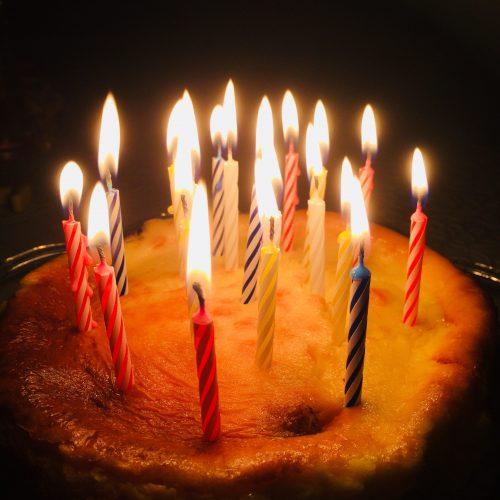 長男の誕生日チーズケーキ