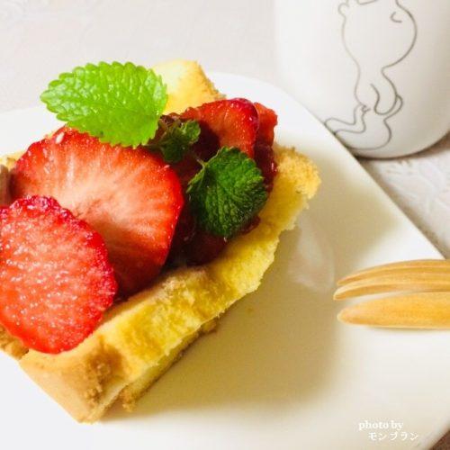 シフォンケーキのデコレーション方法
