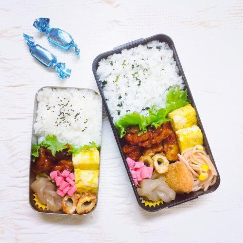 ヤンニョムチキンから揚げ弁当レシピ