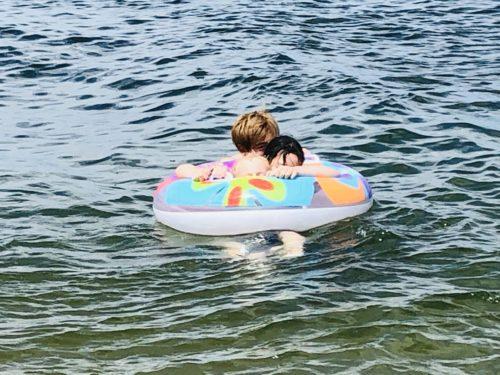 甥っ子と海水浴