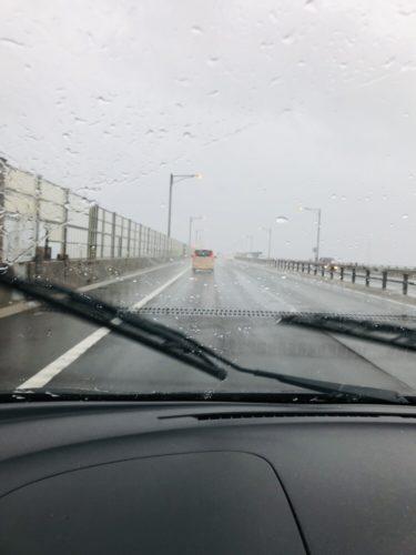 台風と瀬戸大橋