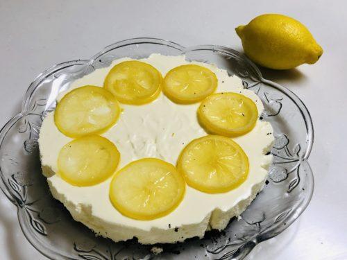 レモンレアチーズケーキで誕生日会