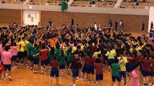 高校最後の体育祭の様子