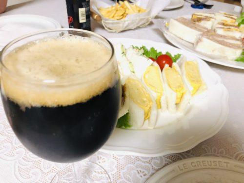 ギネスビールとサンドイッチでお誕生日会