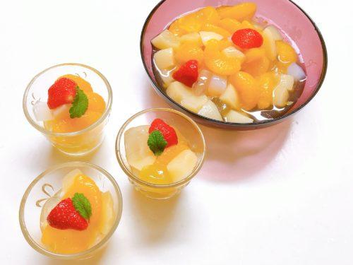 おうちケーキバイキングフルーツサラダレシピ