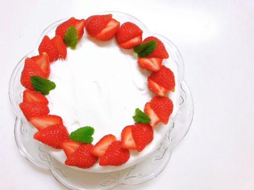 おうちケーキバイキングいちごのショートケーキレシピ