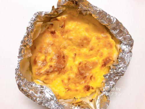 電子レンジでできるバスクチーズケーキレシピ