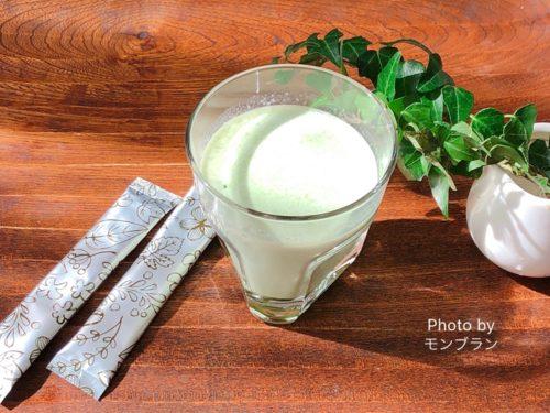 グリーンクレンズジュースのレシピ(牛乳)