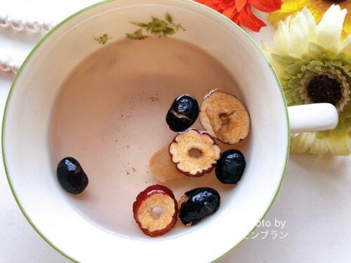 デイリリーの食べる薬膳茶黒豆・なつめ・竜眼のお味